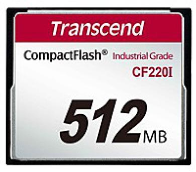 TRANSCEND Industrial Compact Flash Card CF220I 512MB