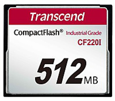 TRANSCEND Industrial Compact Flash Card CF220I 512MB
