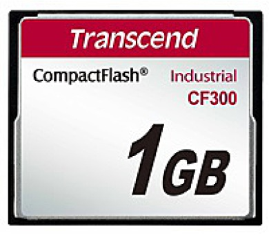TRANSCEND Industrial Compact Flash Card CF300 1GB