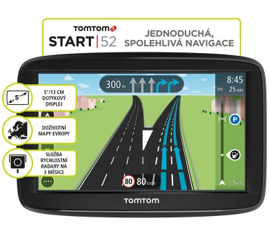 TomTom START 52 Regional (CEE) LIFETIME mapy - střední a východní Evropa