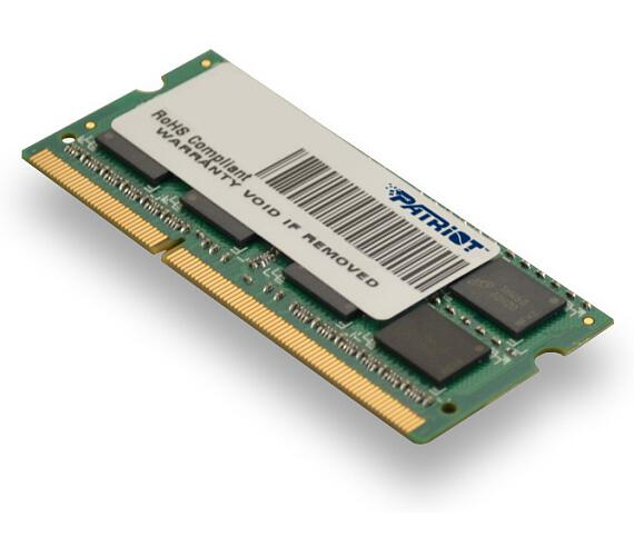Patriot 8GB SO-DIMM DDR3-1600MHz 1,35V (PSD38G1600L2S)