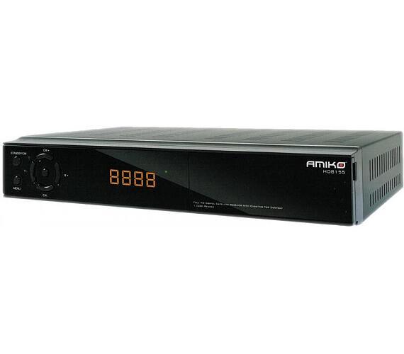 AMIKO DVB-S2 přijímač SHD 8155/ Full HD/ čtečka UNI/ H.265/HEVC/ HDMI/ USB/ PVR/ RS232/ SCART/ Wi-Fi (DBSAMHC0295) + DOPRAVA ZDARMA