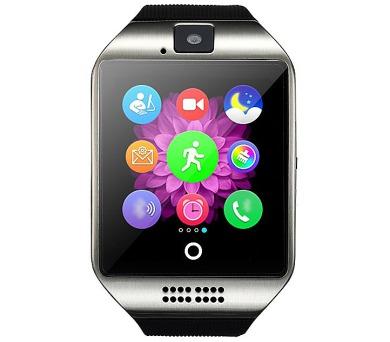 """IMMAX chytré hodinky SW7/ 1.56"""" LCD/ MTK6260/ 128MB RAM/ 64MB interní paměť/ micro SIM/ BT/ česká lokalizace/ stříbrné"""