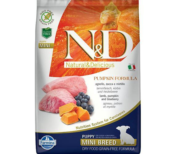 N&D Grain Free Dog Puppy Mini Pumpkin Lamb & Blueb 7 kg