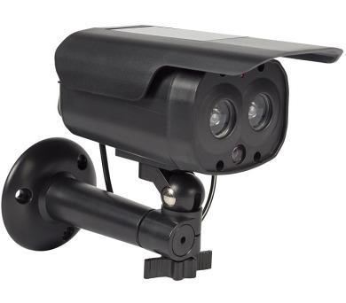 KÖNIG atrapa bezpečnostní kamery s blikající LED/ válcová/ IP44/ černá + DOPRAVA ZDARMA