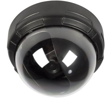 KÖNIG atrapa bezpečnostní kamery s blikající LED/ kopulová/ IP44/ černá
