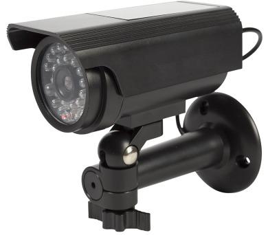 KÖNIG atrapa bezpečnostní kamery s blikající LED/ válcová/ IP44/ černá