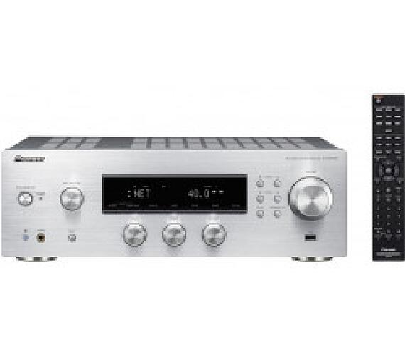 Pioneer audio přijímač 2.0 se sítí stříbrný + DOPRAVA ZDARMA