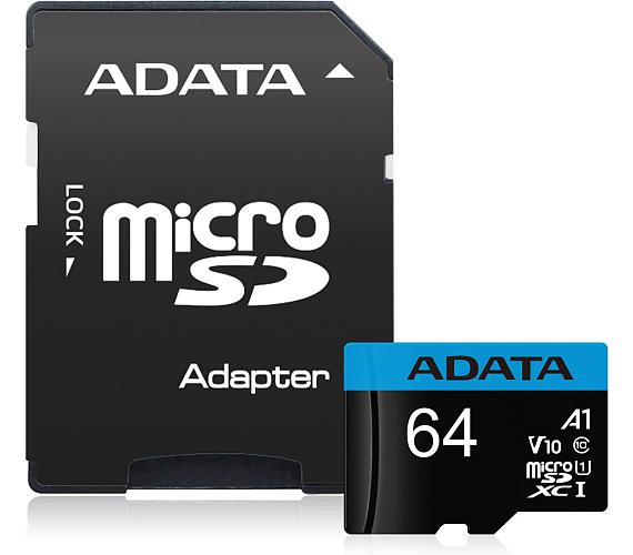 ADATA Premier 64GB microSDXC / UHS-I CLASS10 A1 / 85/25 MB/s / + adaptér
