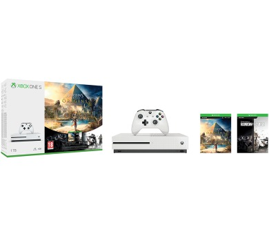 XBOX ONE S 1 TB + Assassin's Creed: Origins + Rainbow Six: Siege
