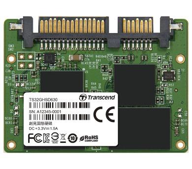 TRANSCEND HSD630 32GB Industrial Half-Slim SSD disk SATA2 3Gb/s
