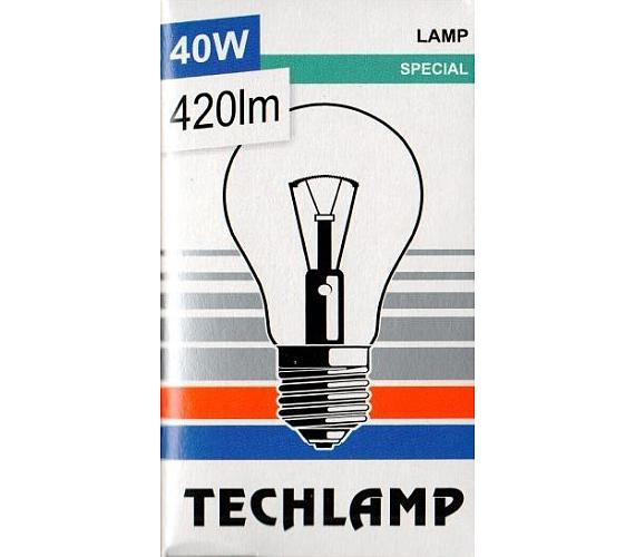 Žárovka TECHLAMP čirá 40W E27 240V A55