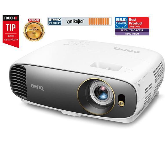 BenQ W1700 4K UHD/ DLP projektor/ 2200ANSI/ 10.000:1/ VGA/ 2x HDMI (9H.JHN77.13E)