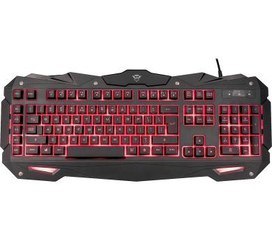 TRUST GXT840 Myra Gaming Keyboard CZ/SK + DOPRAVA ZDARMA