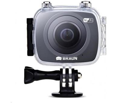 Braun CHAMPION 360 - akční kamera + Virtuální 3D brýle B-VR PRO (DB57523)