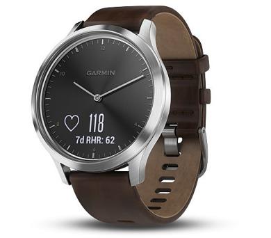 GARMIN stylové/chytré hodinky vívomove Optic Premium Silver (velikost L) (010-01850-24)