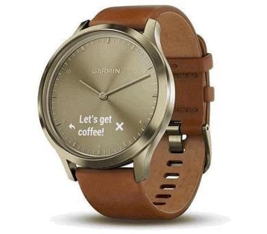 GARMIN stylové/chytré hodinky vívomove Optic Premium Gold (velikost S/M) (010-01850-25)