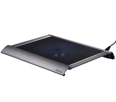 """HAMA chladící stojan pro notebook Titan/ do 17,3""""/ USB/ LED podsvícení/ titanově šedý (53062)"""