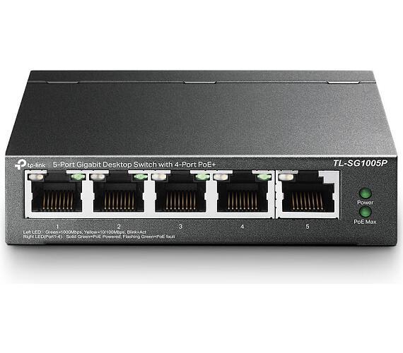 TP-Link TL-SG1005P - PoE Switch 5xTP 10/100/1000Mbps(4x PoE) + DOPRAVA ZDARMA