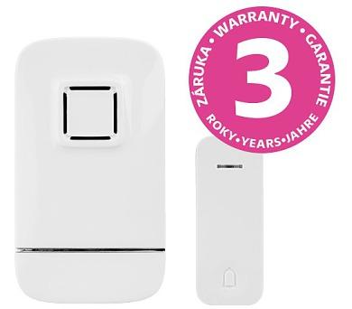 Panlux PIEZO BELL bezdrátový bateriový zvonek s bezbateriovým tlačítkem + DOPRAVA ZDARMA