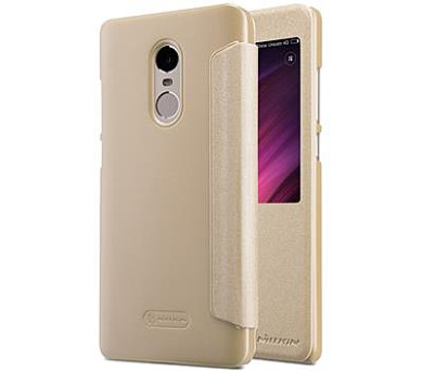 Nillkin Sparkle S-View Pouzdro Gold pro Xiaomi Redmi Note 4 Global (8595642263231)