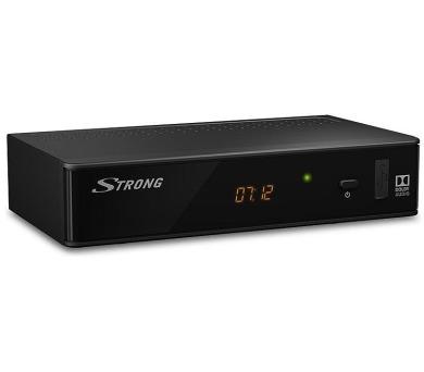 STRONG DVB-T2 přijímač SRT 8211/ Full HD/ H.265/HEVC/ EPG/ USB/ HDMI/ LAN/ SCART/ černý