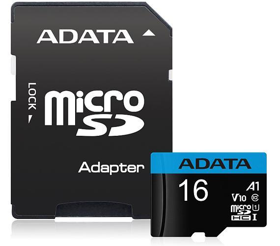 ADATA Premier 16GB microSDHC / UHS-I CLASS10 / + adaptér (AUSDH16GUICL10A1-RA1)