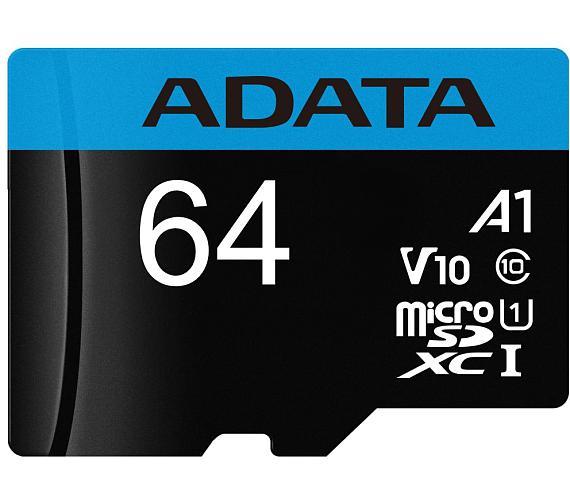 ADATA Premier 64GB microSDXC / UHS-I CLASS10 / bez adaptéru (AUSDX64GUICL10A1-R)