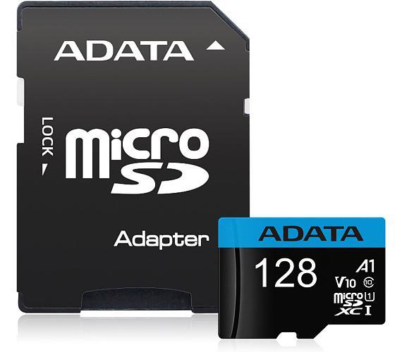 ADATA Premier 128GB microSDXC / UHS-I CLASS10 / + adaptér (AUSDX128GUICL10A1-RA1)