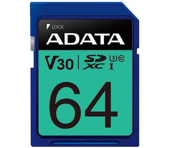 ADATA Premier Pro 64GB SDXC/ UHS-I U3 V30S CL10 (ASDX64GUI3V30S-R)