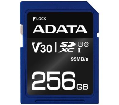 ADATA Premier Pro 256GB SDXC/ UHS-I U3 V30S CL10