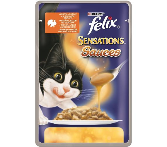 Felix cat kaps.-Sensations Sauce Surprise s krůtou 100 g