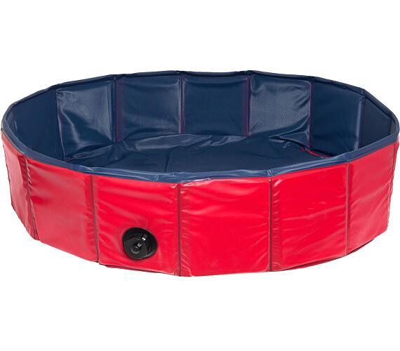 Karlie-Flamingo Skládací bazén pro psy modro/červený 80x20cm + DOPRAVA ZDARMA