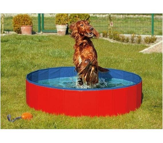 Karlie-Flamingo Skládací bazén pro psy modro/červený 160x30cm + DOPRAVA ZDARMA