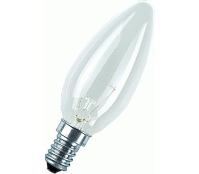 Žárovka TECHLAMP svíčková čirá 60W/E14