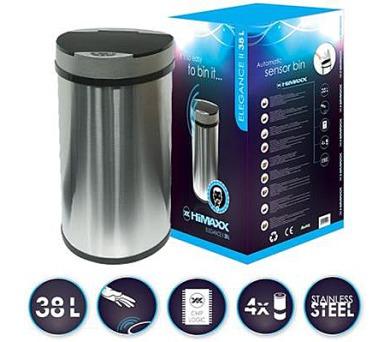 HiMAXX senzorový odpadkový koš Elegance II 38L + dávkovač zubní pasty