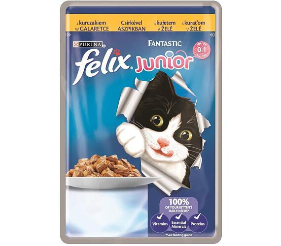 Felix cat kaps.-Fantastic Junior kuře v želé 100 g
