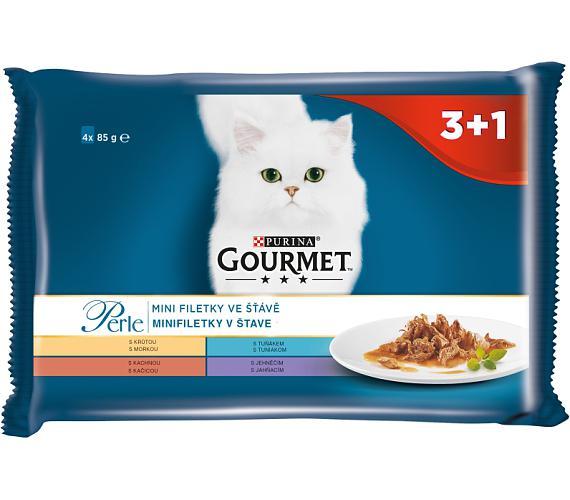 Gourmet Perle cat kaps.- Multipack filety ve šťávě 4 x 85 g (3+1zdarma)