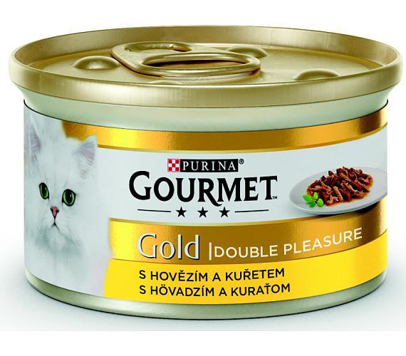 Gourmet Gold cat konz.-duš.a gril.k. hov. a kuře 85 g