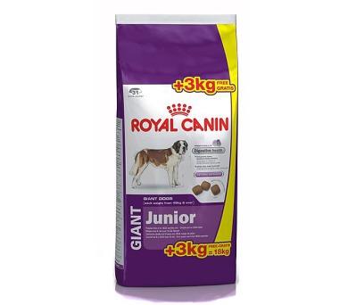 Royal Canin - Canine Giant Junior 15 kg + 3 kg zdarma