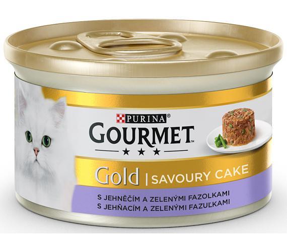 Gourmet Gold cat konz.-Savoury Cake jehně,fazolky 85 g