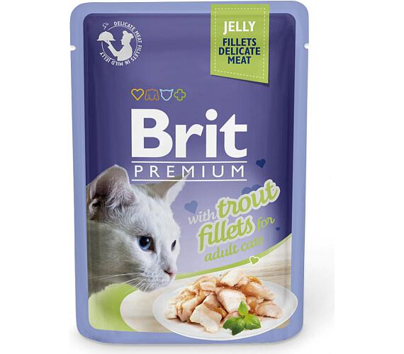 Brit Premium Cat kaps. Delicate Fillets in Jelly with Trout 85 g