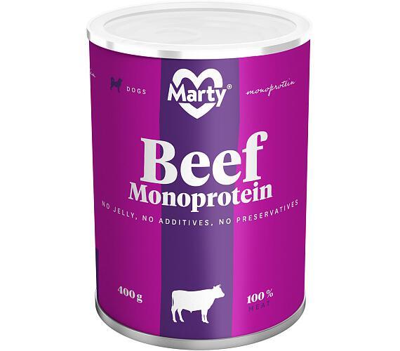 MARTY konz. pro psy - Monoprotein hovězí 400 g