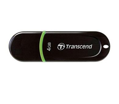 Transcend JetFlash 300 4GB USB 2.0 - černý/zelený