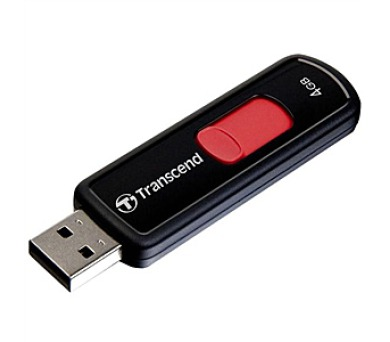 Transcend JetFlash 500 4GB USB 2.0 - černý/červený