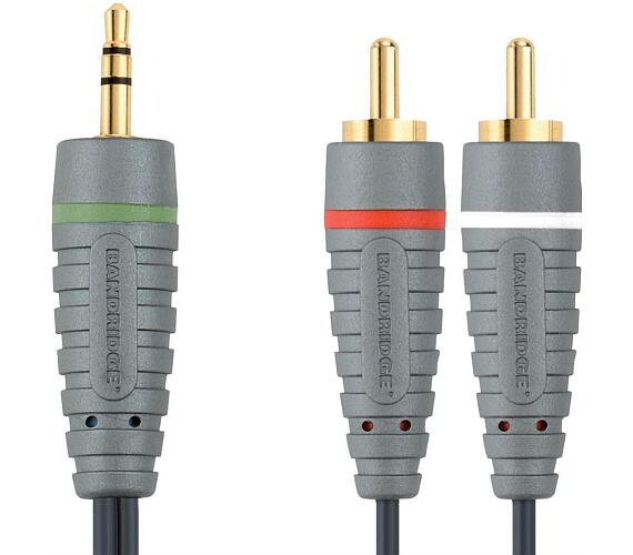 BANDRIDGE Kabel 3,5mm JACK konektor - 2x CINCH
