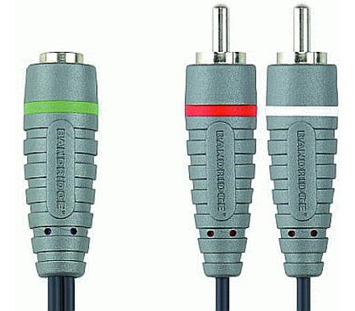 BANDRIDGE Kabel JACK 3,5mm zásuvka - 2x CINCH vidlice