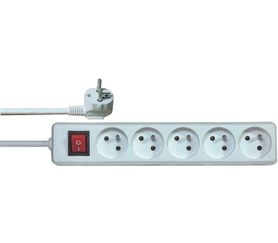 Prodlužovací přívod s vypínačem 5z. 1,5m