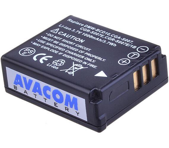 Avacom Panasonic CGA-S007/DMW-BCD10 Li-ion 3,7V 1000mAh