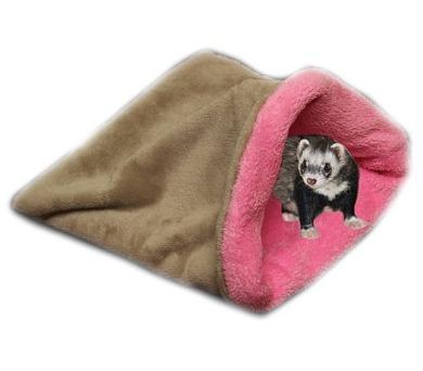 MARYSA pelíšek 3v1 pro fretky - béžový/světle růžový